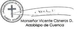 firma VICENTE Cisneros